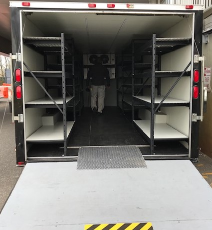 mobile walk in refrigerator or cold room storage for labs and hospitals