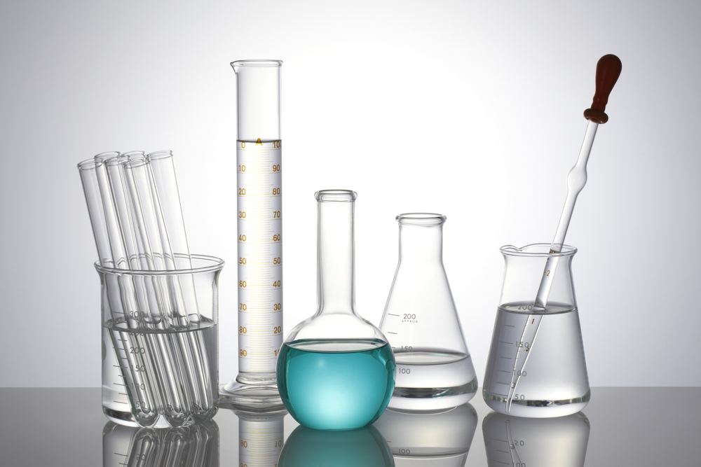 collection of laboratory glassware equipment